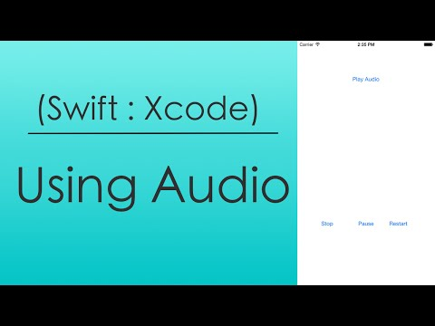 Using Audio (Swift : Xcode)