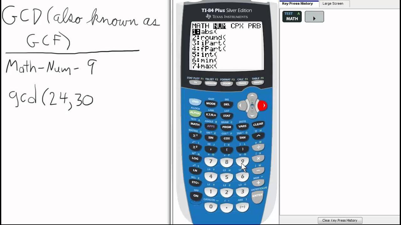 Denominator Gcd Ti 84 Calculator Top Priority Functions