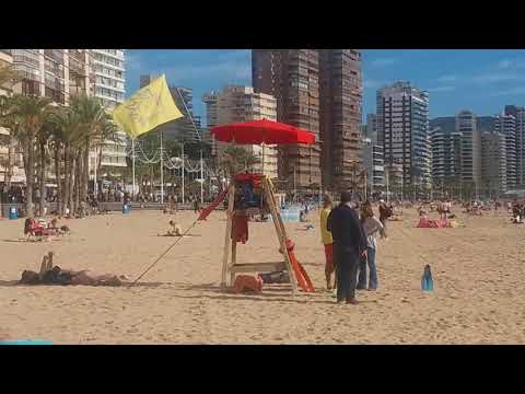 Benidorm beaches and Old Town 8 December 2017.