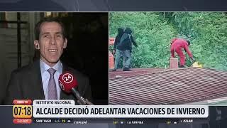 Alcalde de Santiago adelanta vacaciones tras incidentes en el I. Nacional