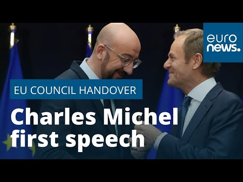 Charles Michel's first speech as EU Council president
