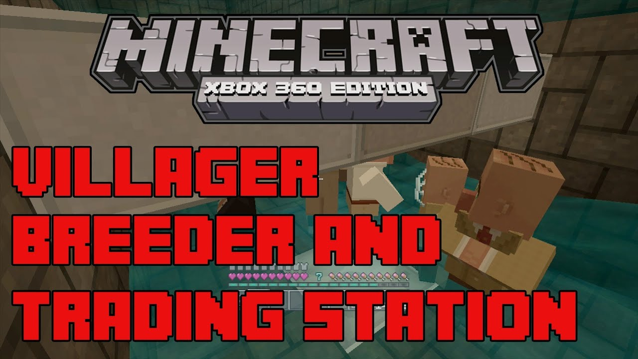 Villager breeding and trading station xbox 9 minecraft - YouTube