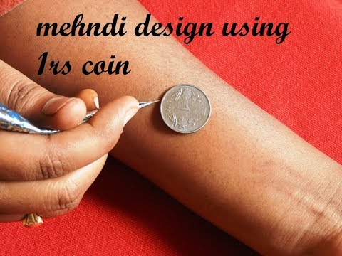 Latest Simple Mehndi design With The Help Of 1 Rupee Coin Beginners Easy New Mehndi for Hands