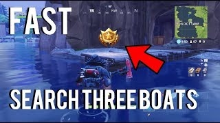 """Search Between Three Boats"" EXACT Location - (Fortnite Week 8, S3 Battle Pass Challenge)"