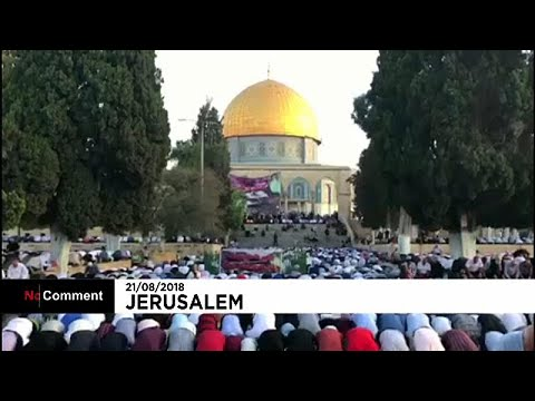 شاهد: صلاة عيد الأضحى من قلب المسجد الأقصى أولى القبلتين…