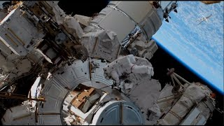 NASA astronauts conduct spacewalk