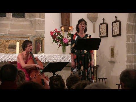 Duo Alienor en concert - Eglise St Julien -  Fresselines - Chants Polyphoniques