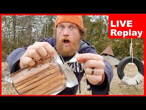 Using Fatwood To Start A Fire For The First Time Ever Live & Q AND A