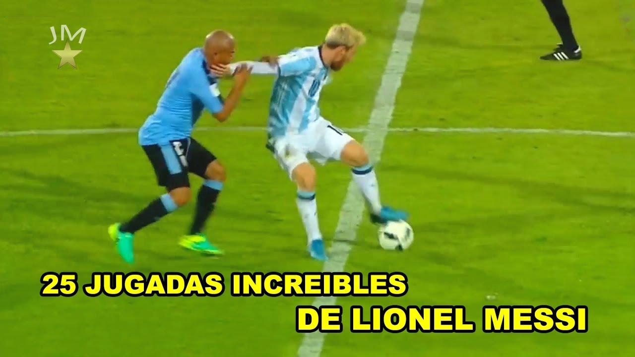 25 jugadas increibles de Messi para volverse loco!