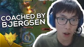 "Doublelift COACHED BY BJERGSEN IN MID! - ""I'M JUST TOO GOOD!"" - League of Legends Stream Highlights"