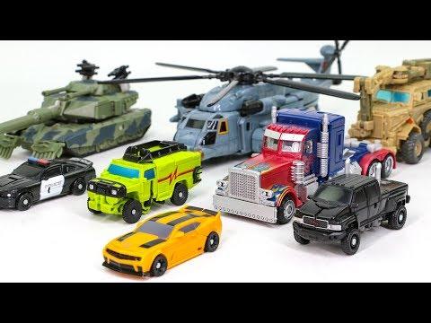 Transformers 1 Optimus Prime Bumblebee Ratchet Ironhide Bonecrusher Brawl Blackout Car Robot Toys