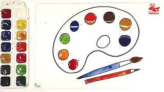 Акварельные краски : урок рисования для детей : ПАЛИТРА
