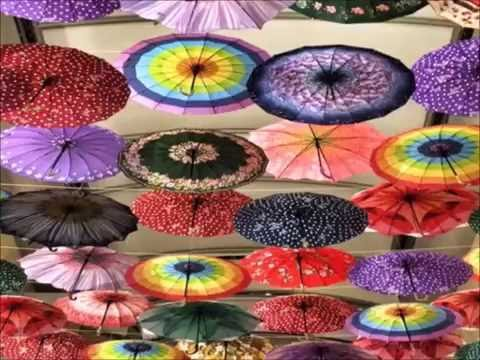 Specialized In Paper Hanging Decorations Umbrellas White Umbrella Painting Parasols Themed Wedding