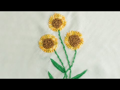 Hand Embroidery Flower Designs | New Hand Stitching pattern | HandiWorks #17