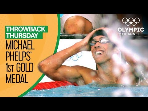 Michael Phelps\' 1st Olympic Gold Medal | Throwback Thursday