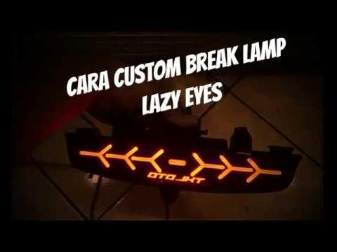 CARA MEMBUAT CUSTOM LAZY EYES STOP LAMP - YouTube