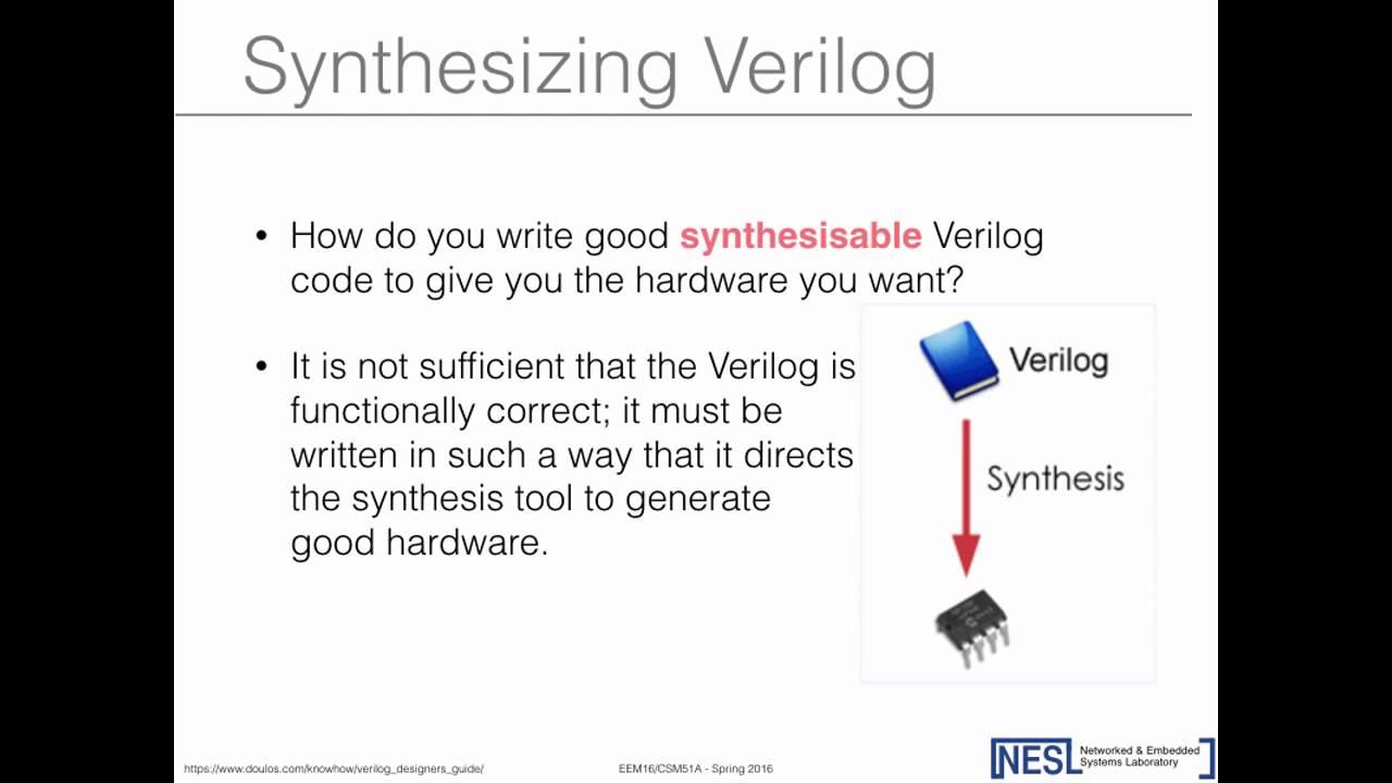 Guest Lecture: Designing Using Verilog (Salma Elmalaki)