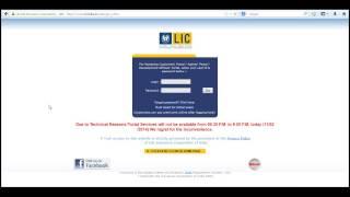Lic Login Page Lic of India