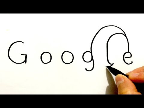 How To Turn The Words Google Into A Cartoon | Drawing Tutorial