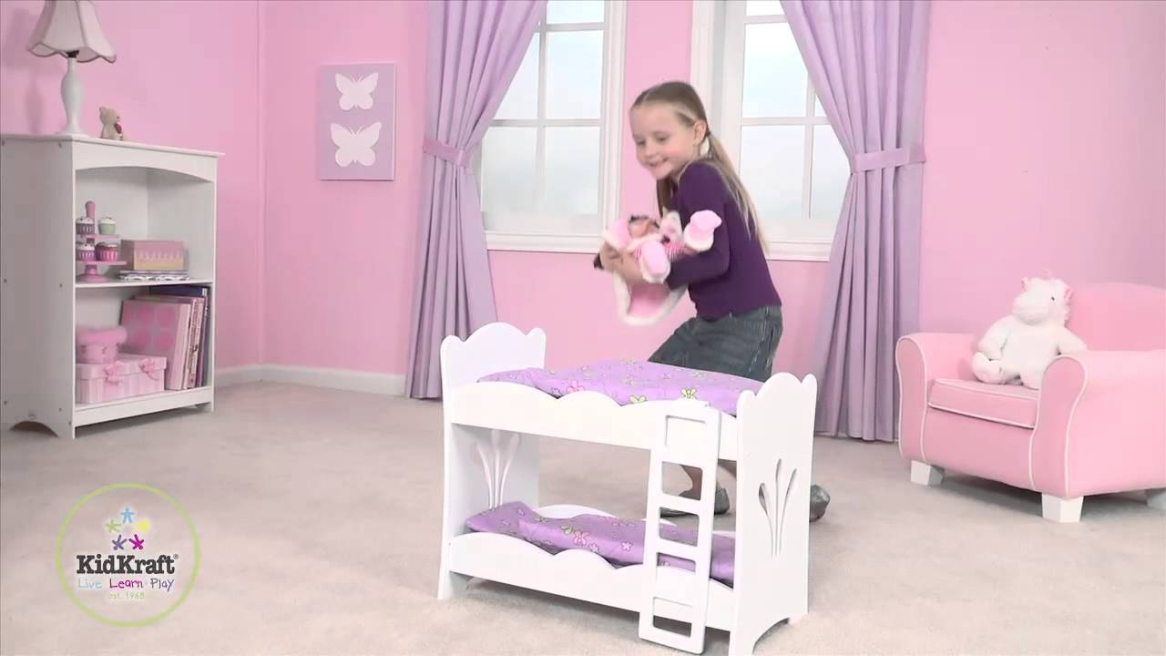 Kidkraft Lil Doll Bunk Bed 60130 Youtube