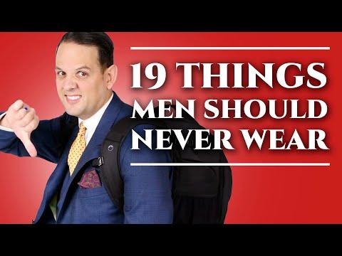 19 Things Men Should Never Wear - Men's Fashion & Menswear Style Mistakes & What Not To Wear