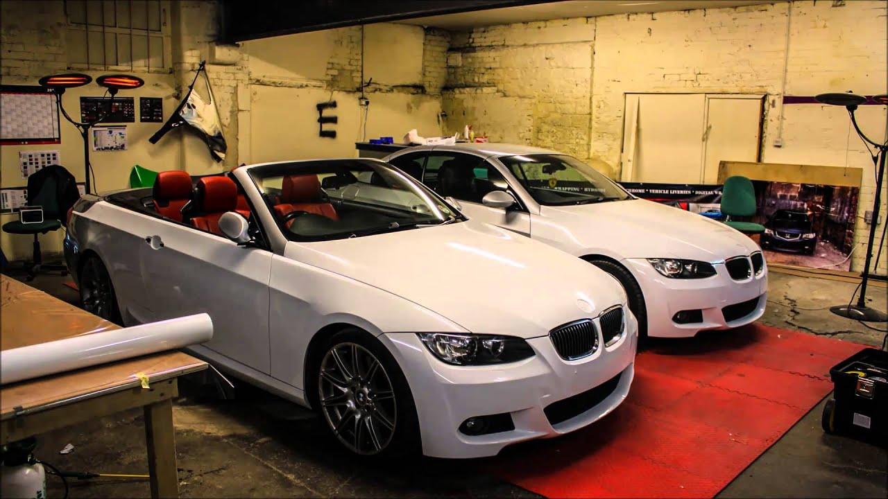 Bmw E93 X 2 Hexis Glazier White Wrap