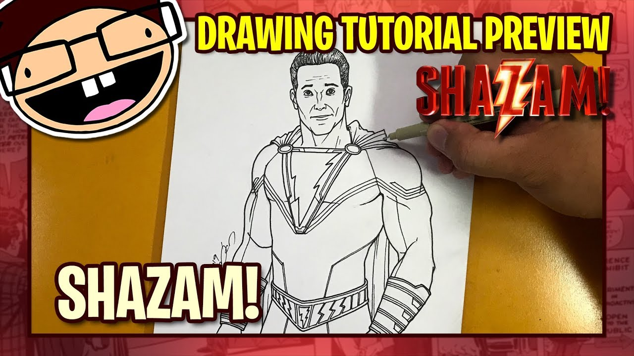 [PREVIEW] How to Draw SHAZAM! (2019 Movie) | Tutorial Time Lapse