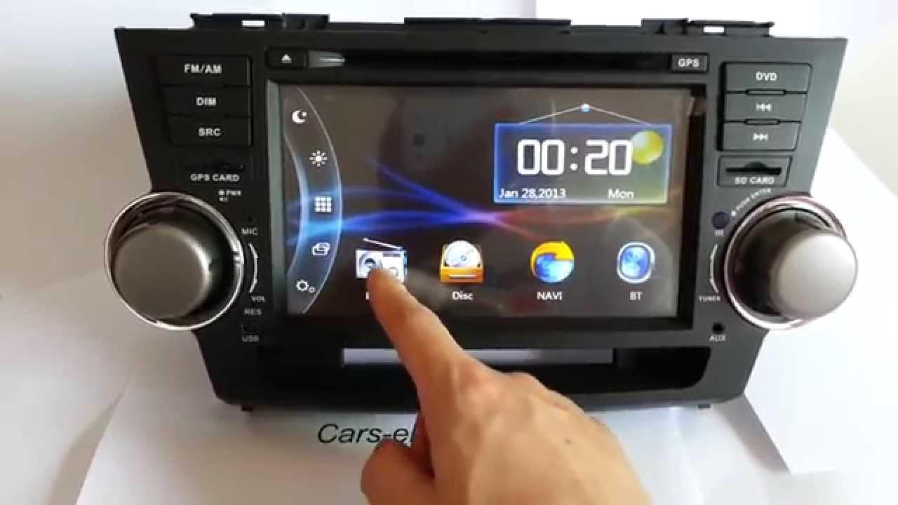 Toyota Highlander For Sale >> New 2 Din DVD Player Toyota Highlander Radio GPS Navigation Bluetooth Touch Screen - YouTube