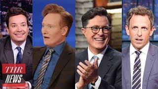 Donald Trump: Late-Night Hosts React to President's U.N. Speech   THR News