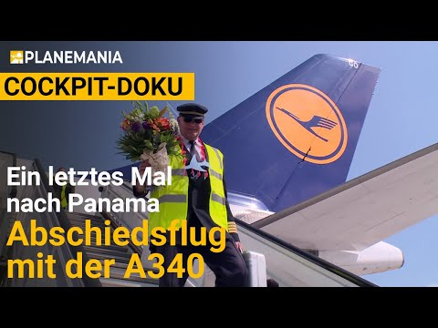 Airbus A340 Cockpit on Long Haul: Farewell Flight to Panama (complete documentary)