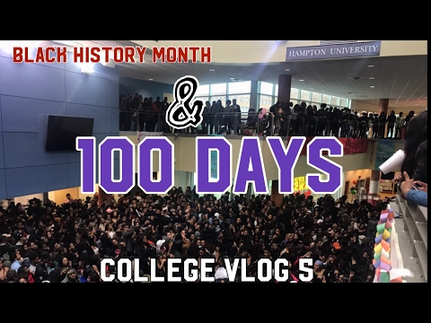 COLLEGE VLOG 5 | HAMPTON UNIVERSITY 100 DAYS (ONYX X)