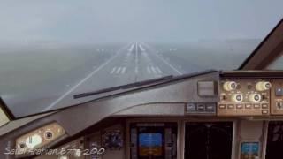Fs2004 - Saudi Arabian Airlines B777-200 / Landing to Fiumicino LIRF in fog