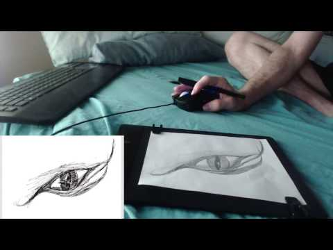 Iskn Slate Drawing Tablet Drawing and Review