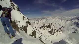 Zapętlaj Off-piste skiing in 4 Vallées: Mont Fort Backside   winhoff