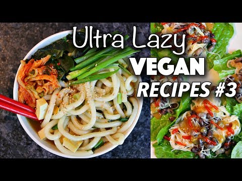 EASY AF VEGAN NOODLE RECIPES // ULTRA LAZY VEGAN RECIPES #3