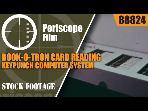 BOOK-O-TRON CARD READING & KEYPUNCH COMPUTER SYSTEM FOR LIBRARY USE 88824