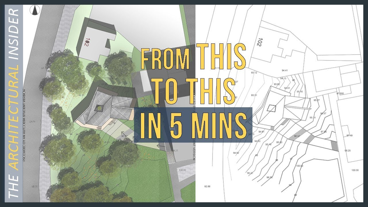 How To Render Site Plan In Photoshop / Architectural