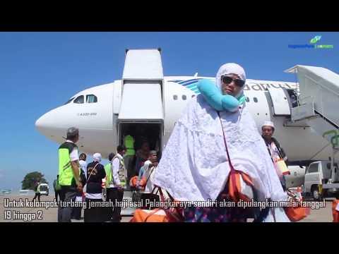 Kloter Pertama Jemaah Haji Kalsel Tiba di Bandara Syamsudin Noor