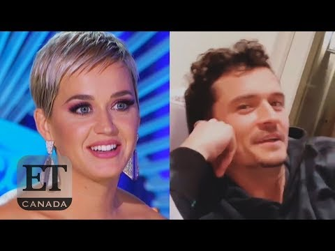 Orlando Bloom Watches Katy Perry Flirt On 'American Idol'