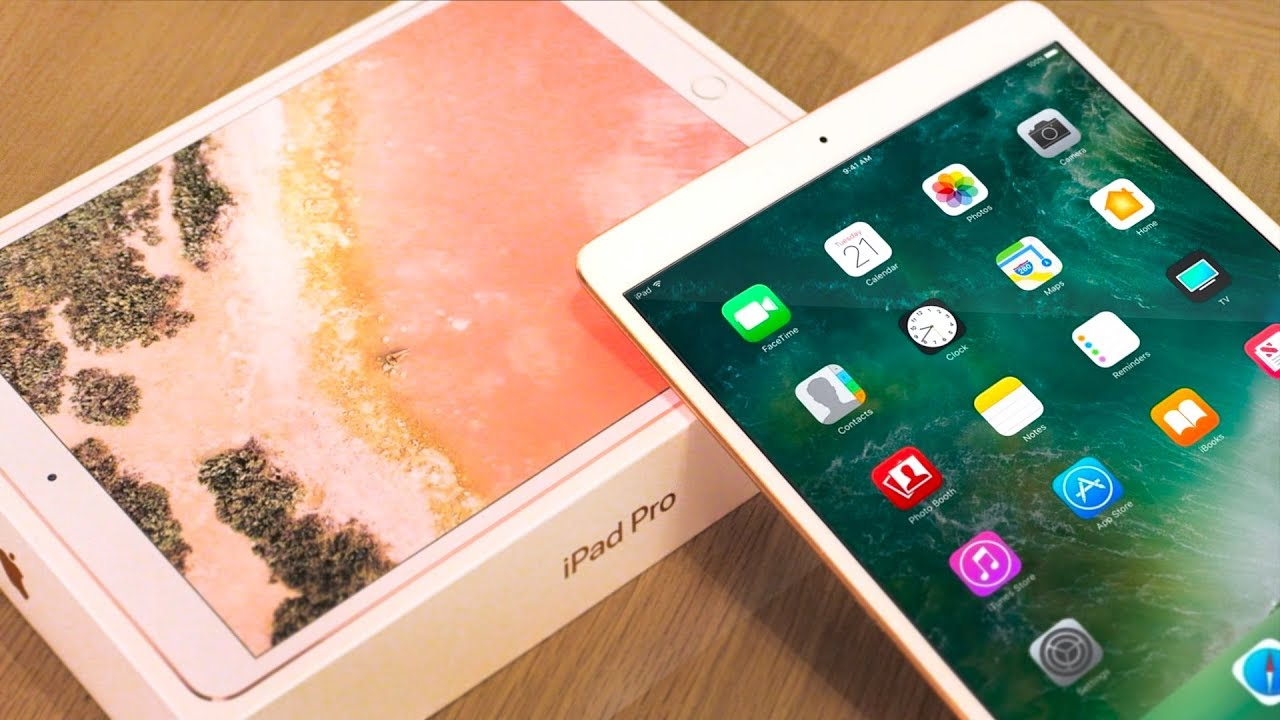 apple ipad pro 10 5 unboxing ipad pro review rose gold. Black Bedroom Furniture Sets. Home Design Ideas