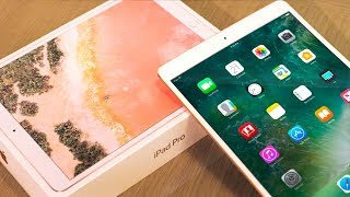 Apple iPad Pro UNBOXING! ipad pro Review Rose Gold 64GB / 2017 New iPad Pro 10.5 & 12.9 Info
