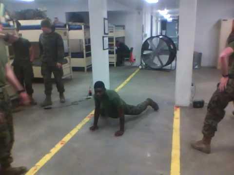 US Marines Pop lock and drop it