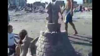 The Making Of A Sandcastle - Jersey Shore Sandcastle