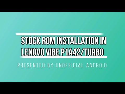 How to install stock rom in lenovo P1a42 USING QFIL