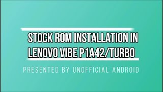 Gambar cover How to install stock rom in lenovo P1a42 USING QFIL