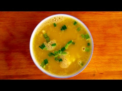 Egg Drop Soup - Simple Chinese Recipe