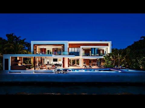 Stunning Distinctive Modernist Contemporary Luxury Residence in Miami Beach, Florida, USA