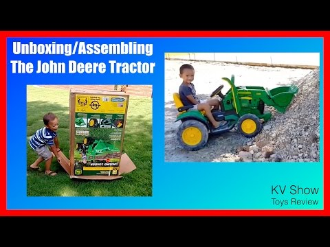 Unboxing And Assembling The Powered Ride On Peg Perego John Deere Tractor 12 Volt  Compilation!