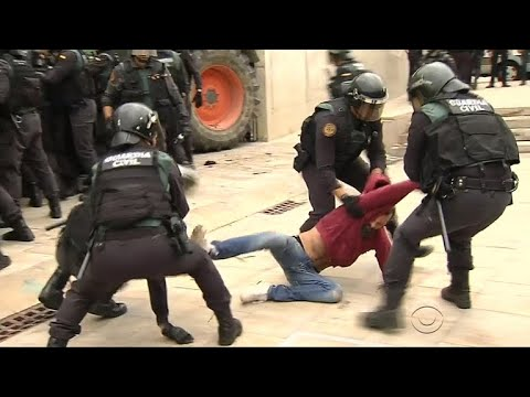 Crackdown on Catalans in Spain as they vote for independence