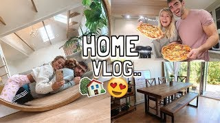 HOME VLOG: NEW FURNITURE & MAKE HOMEMADE PIZZAS WITH US!